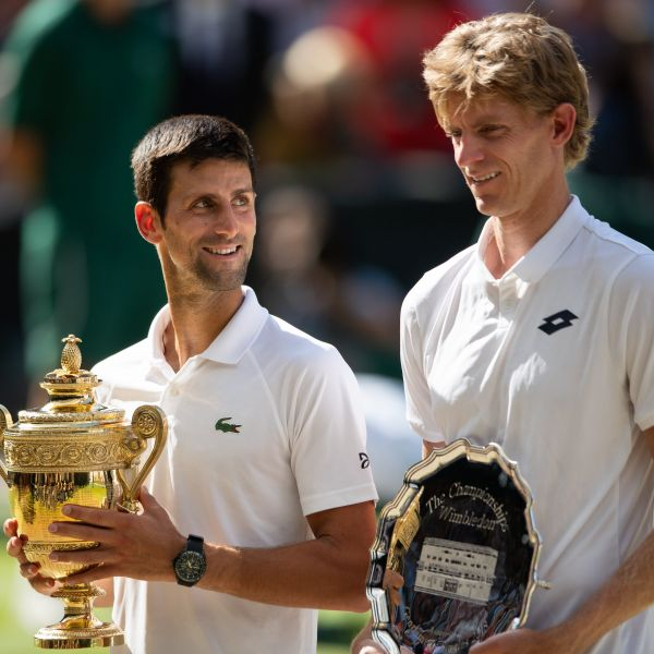 3年前喬帥跟安德森在溫網決賽對決。摘自官方推特