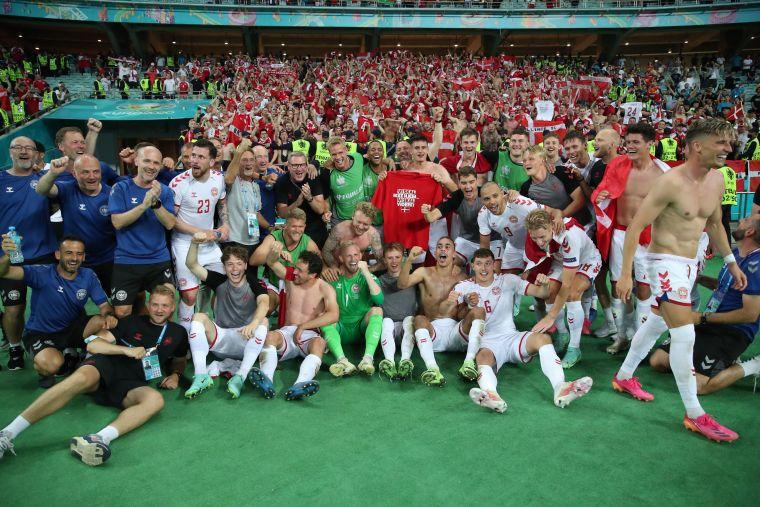 丹麥成為歐國盃史上唯一1支連輸前兩場比賽後還能打進4強的球隊。摘自官方推特