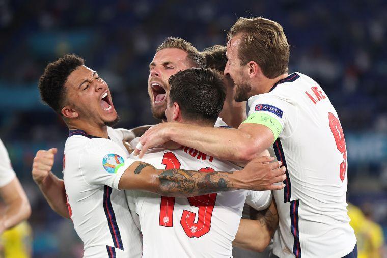 英格蘭連兩屆歐國盃晉4強。摘自官方推特