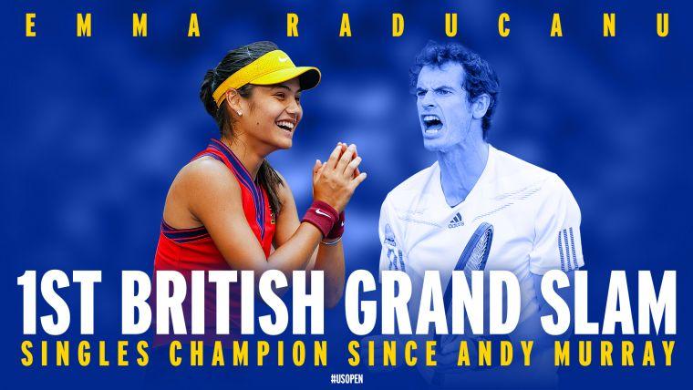 拉杜卡努成為英國44年以來首位大滿貫女單得主。摘自美網推特