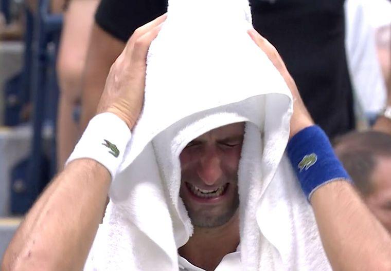 喬科維奇少見在比賽過程中哭了。摘自tennis majers推特