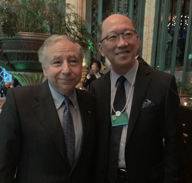 FIA主席Jean Todt(左)與中華車會理事長陳志鴻。大會提供