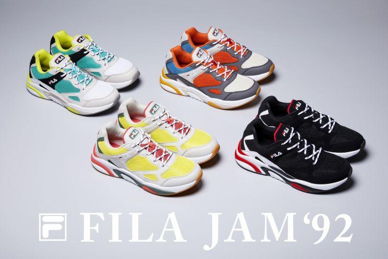FILA JAM '92,共有四個從復古元素中所精選出的摩登配色。官方提供