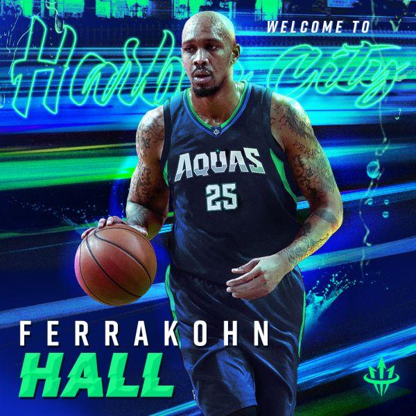 高雄海神職業籃球隊今日再宣布延攬前NBA G League 風城公牛隊(Windy City Bulls)大前鋒霍爾(Ferrakohn Hall)。官方提供