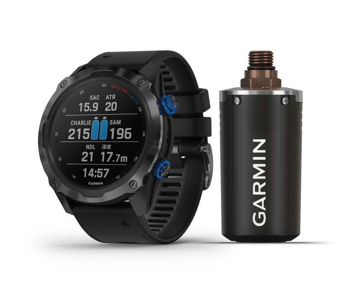 Garmin Descent Mk2i 潛水電腦錶搭配T1發射器發送範圍可達10公尺。官方提供