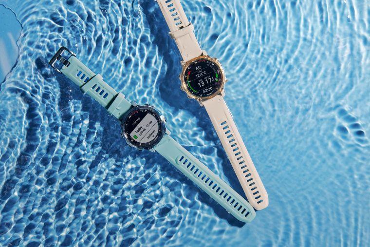 Garmin推出業界最輕巧「Descent Mk2S GPS潛水電腦錶」全機僅重60g,43mm錶徑搭配1.2吋陽光及水下清晰可讀的彩色螢幕。官方提供