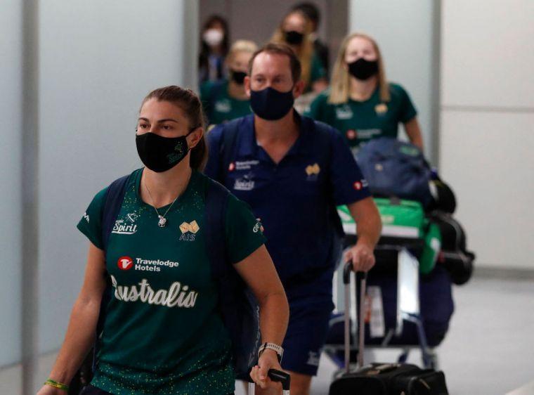 澳洲女壘隊抵達日本備戰奧運。摘自ig網站