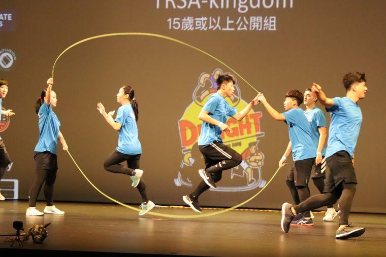 台灣的表演獲得不少掌聲。臺灣專業花式跳繩學院提供