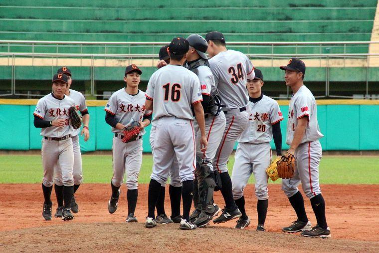 108大專棒球聯賽,文化預賽首戰力克台東大學。大會提供