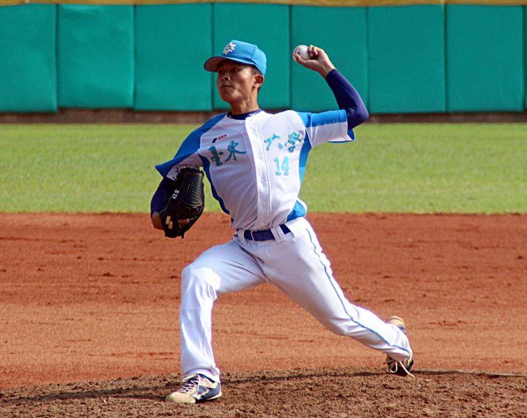 108大專棒球聯賽,巴青少大學生涯首次完封勝,台東大學預賽勝場開張。大會提供