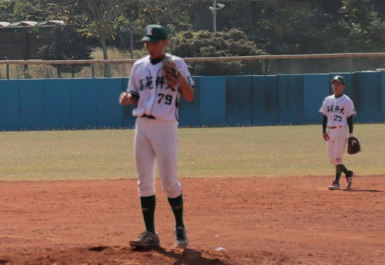 108大專棒球聯賽,高苑科大潘柏宏完投完封中信學院。大會提供