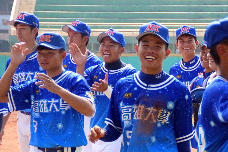 108大專棒球聯賽,高雄大學爆冷擊敗文化大學。大會提供