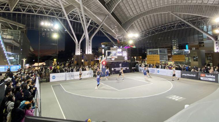 大專校院3X3籃球錦標賽於臺中火車站盛大開打。大會提供