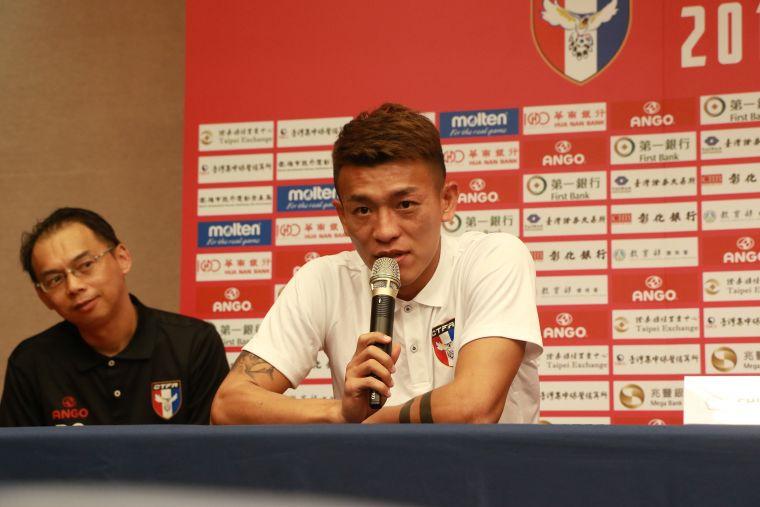 中華隊長陳柏良重新歸隊。中華民國足球協會提供