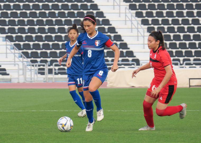 隊長王湘惠進第2球。中華民國足球協會提供