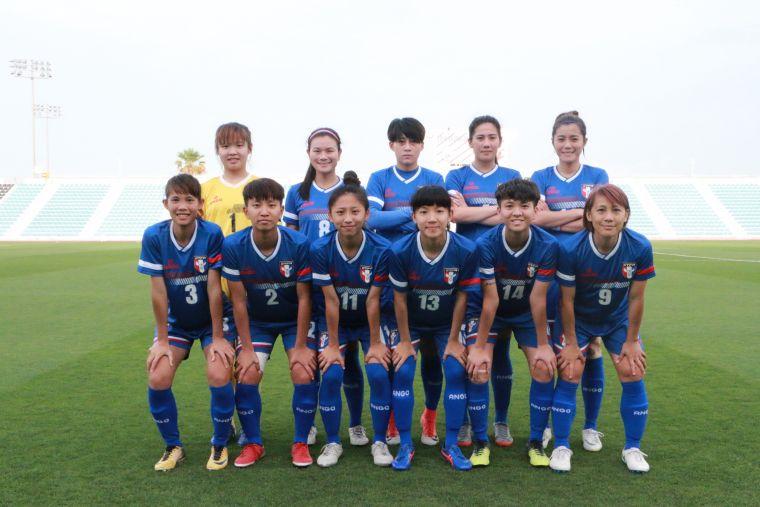 中華女足新陣容。中華民國足球協會提供