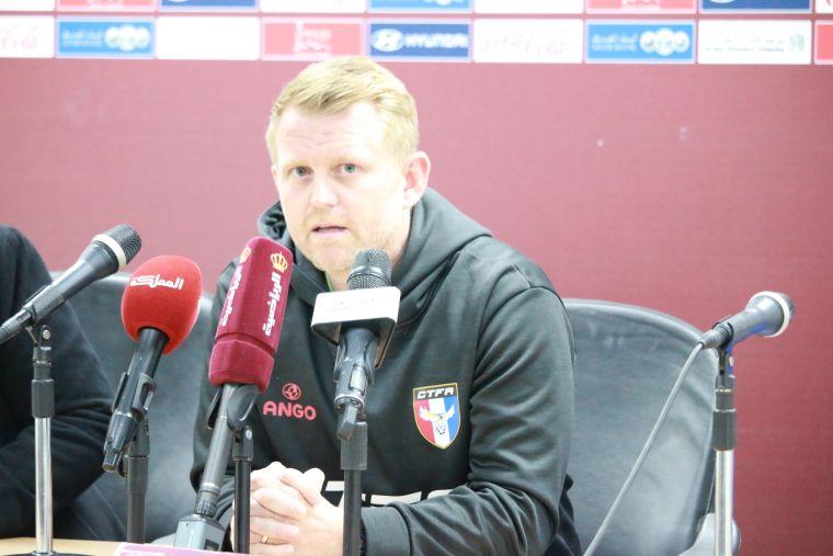 中華男足的英國總教練蘭卡斯特提前遭到解約。中華足協提供