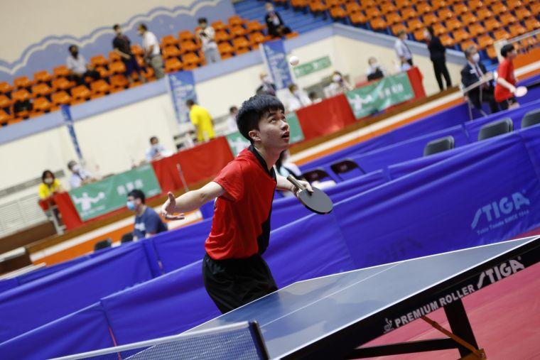 林昀儒男單金牌戰只打了1球就奪金。大會提供