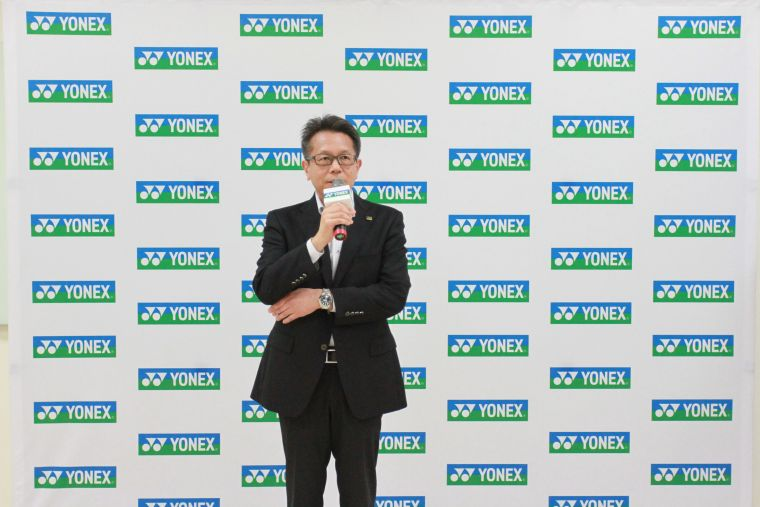 YONEX TAIWAN優乃克股份有限公司宮前輝久總經理。官方提供