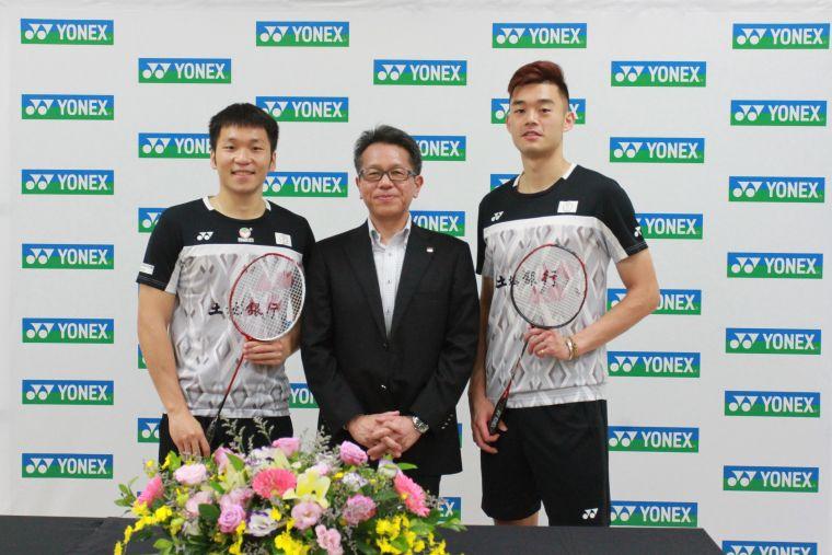 YONEX TAIWAN同時簽下台灣第一男雙組合李洋、王齊麟。官方提供