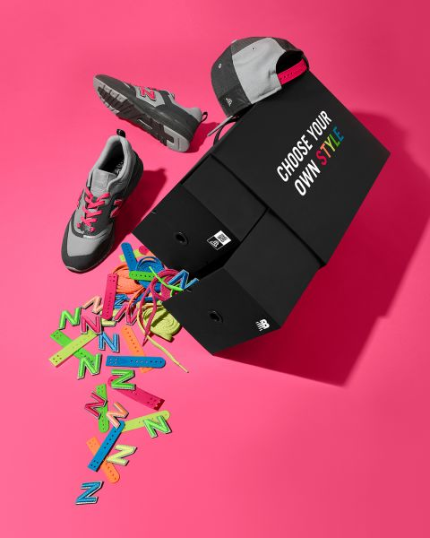 New Era 9FIFTY x New Balance 997H鞋帽套裝。大會提供