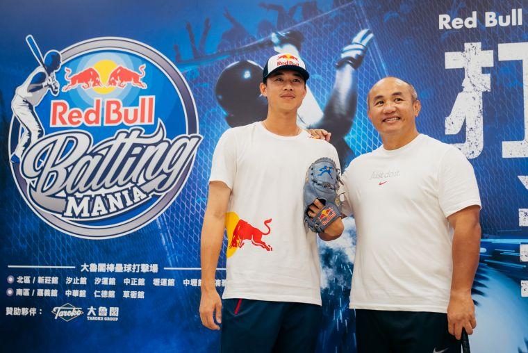 Red Bull運動員黃子鵬、全壘打王張泰山  號召全台打者強棒出擊 參與第二屆Red Bull Batting Mania打擊狂人。官方提供