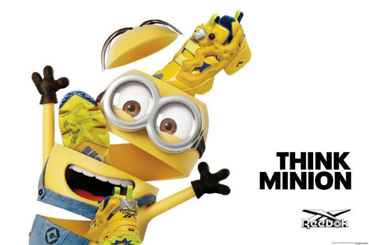 """Reebok Instapump Fury """"Minions""""向小小兵的標誌性的黃藍配色致敬,以充滿活力小小兵為設計發想。官方提供"""