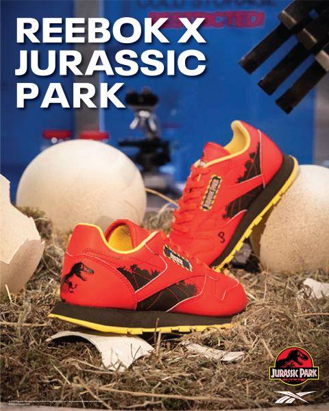 Reebok x Jurassic Park - ZIG KINETICA II。官方提供