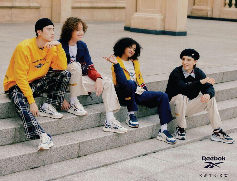 Reebok2021秋裝首發 聯手韓國街頭潮牌Romantic Crown。官方提供