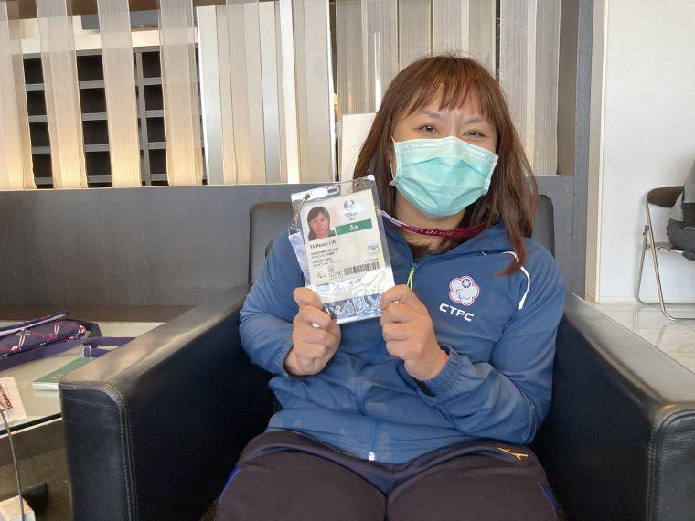 第六度參賽的健力女將林亞璇。中華民國殘障體育運動總會提供