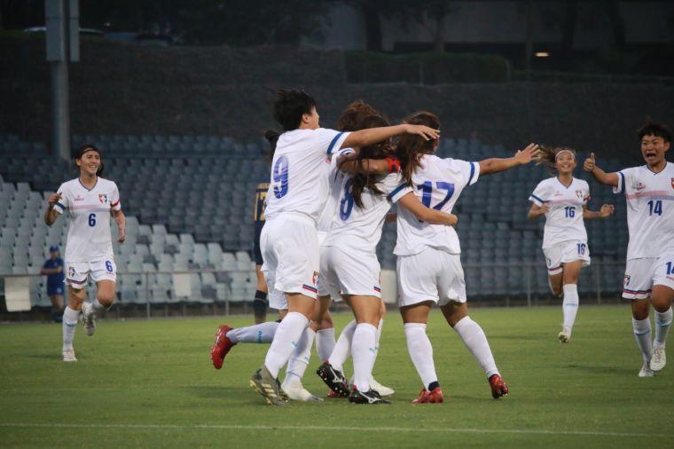 中華女足逾18年來首度在正式國際賽打敗泰國。中華足協提供