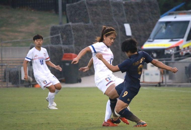隊長丁旗射進致勝球。中華足協提供