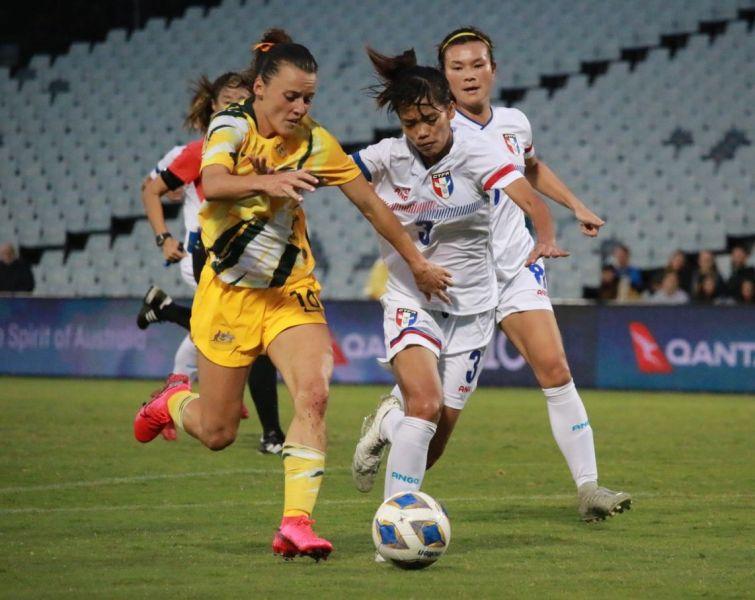 澳洲的強力打法讓中華女足沒辦法適應。中華足協提供