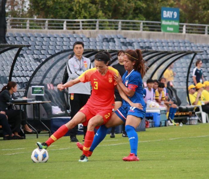 中華女足上半場守不住失球而落敗。中華足協提供