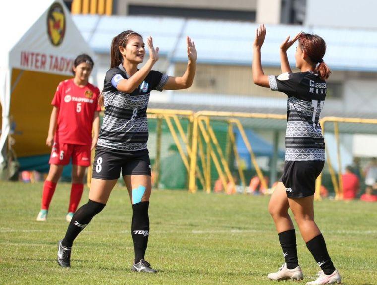 衛冕軍花蓮女足以4比0拿下首勝。花蓮女足提供