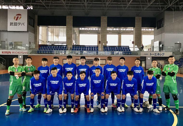 中華U20五人制代表隊成軍出賽。中華民國足球協會提供