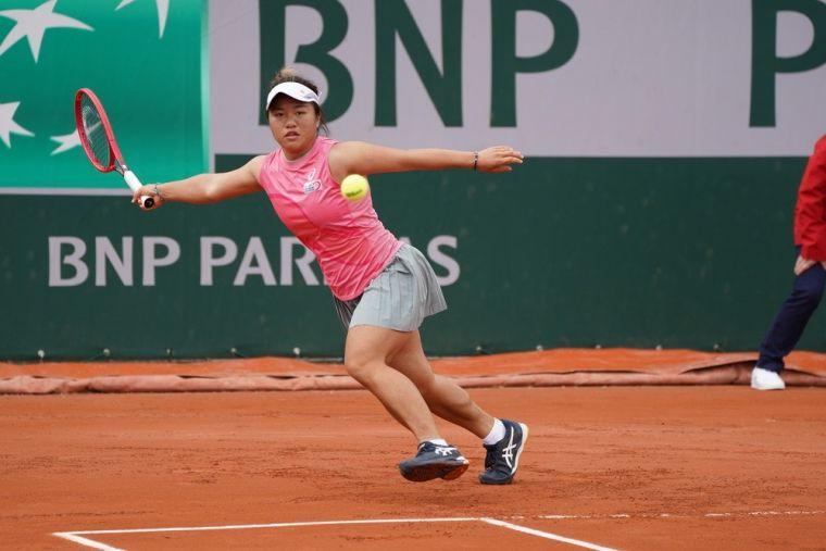 梁恩碩成為第五位打進法網女單會內賽的台將。大會提供