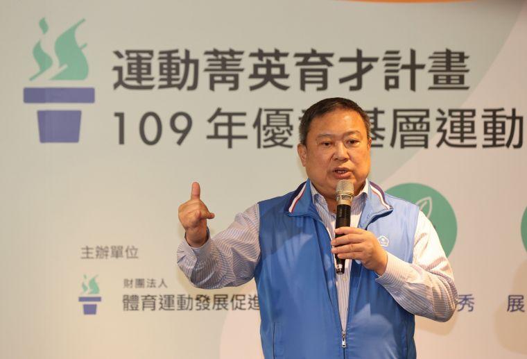 運促會董事長林鴻道。中華奧會提供