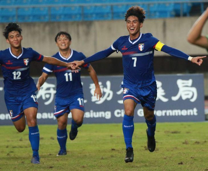 中華U19隊長林明偉演出帽子戲法。全國足協提供