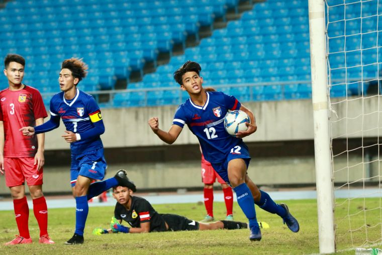 中華隊下半場追回1球。全國足協提供