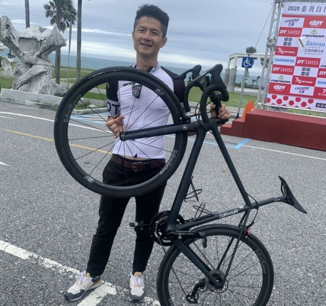 台灣自由車「最強素人」范永奕今年第十度挑戰KOM。大會提供