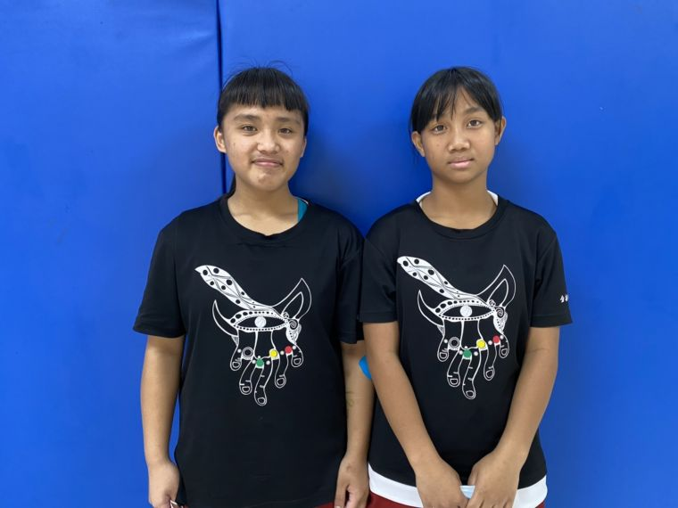 ▲賓茂國小簡嘉雯(右)、林琳(左)。(圖/記者張曜麟攝)