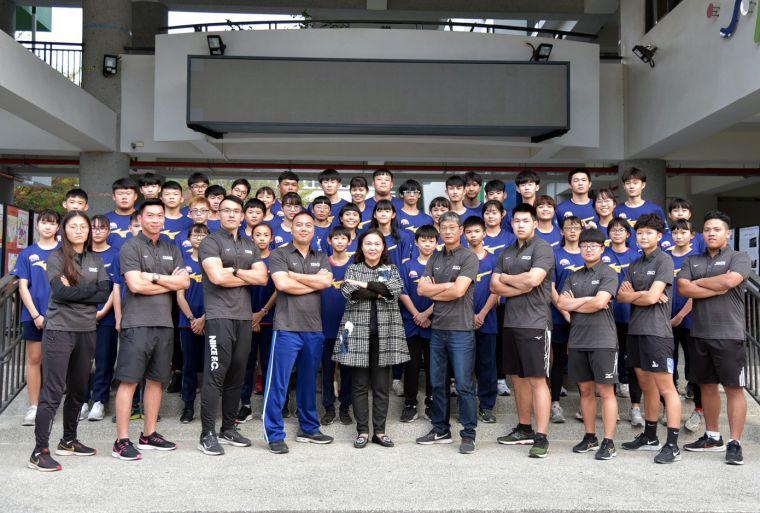 斗南高中田徑隊陣容堅強。斗南高中/提供。