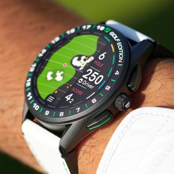 TAG Heuer 泰格豪雅Connected 高爾夫球特別版智能腕錶。官方提供