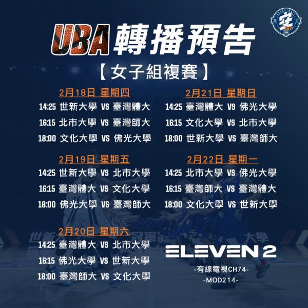 UBA女子組複賽。官方提供