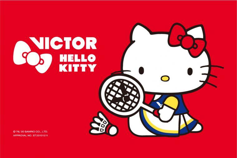 VICTOR x HELLO KITTY聯名系列可愛運動裝備 今冬超萌卡哇伊登場。官方提供