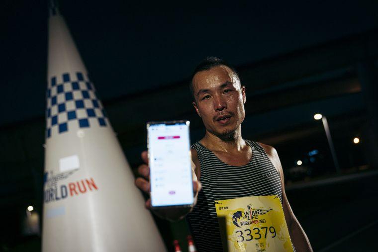 Wings For Life全球路跑App Run,台灣由李智群奪下第一。大會提供