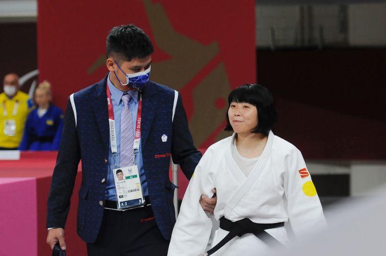 李凱琳非常感謝教練吳嘉倫的指導。體育署提供
