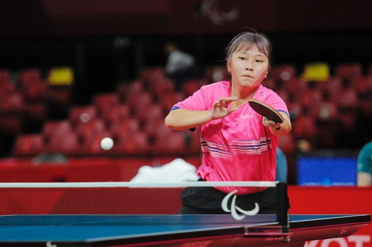 台灣小琉球桌球女將田曉雯奪頭一銅。體育署提供