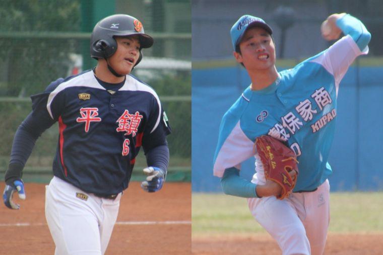 當今青棒最受矚目的「投打雙雄」李灝宇(左)、林昱珉(右)。